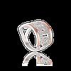 Серебряное кольцо АДРИАНА 925 пробы с накладками золота 375 пробы.Серебряное кольцо с золотой пластиной