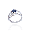 Красивое серебряное кольцо АЗАЛИЯ 925 пробы с накладками золота 375 пробы.Серебряное кольцо с золотой пластино