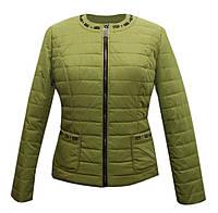 Куртка жакет женская салатовая, фото 1