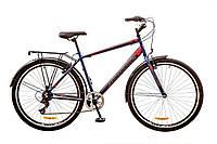 """Велосипед 29"""" Discovery PRESTIGE MAN  14G  Vbr  рама-19,5"""" St сине-серо-красный (м)  с багажником зад St, с кр"""