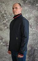 Мужская куртка-ветровка темно-синего цвета.Весна 2017.