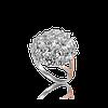 Красивое Серебряное кольцо БРУСНИЧКА 925 пробы с накладками золота 375 пробы.Кольцо с золотыми пластинами