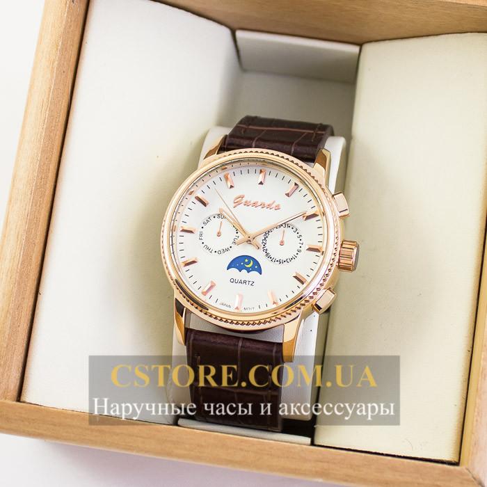 Мужские оригинальные часы Guardo gold white 04748g-6784