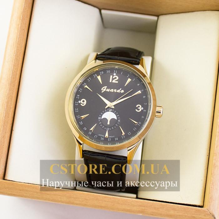 Мужские Оригинальные Часы Guardo Gold Black 04752g-10618 — в ... c6f7fdb7a35