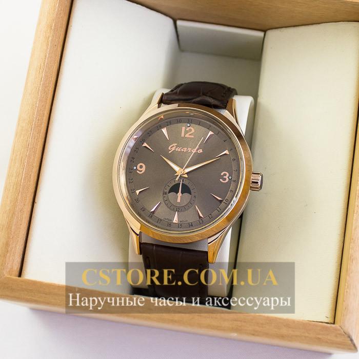 Мужские оригинальные часы Guardo gold brown 04757g-10618