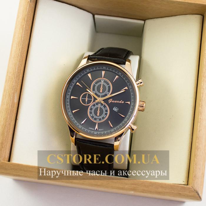 Мужские оригинальные часы Guardo gold black 04761g-10602