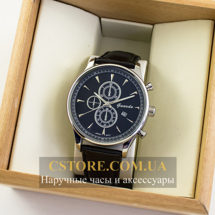 Мужские Оригинальные Часы Guardo Silver Black 04763g-10602 — в ... 957d164b274