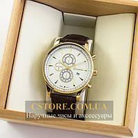 Мужские оригинальные часы Guardo gold white 04765g-10602, фото 1