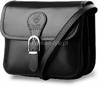06-03 Черная итальянская женская сумка из натуральной кожи Badarma