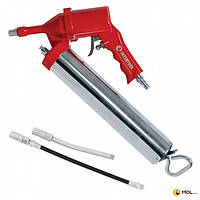 INTERTOOL Пистолет для выдавливания смазки пневматический + две насадки INTERTOOL PT-0607