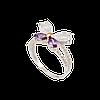 Кольцо из серебра с золотой пластиной АРЛИН.Серебро с золотыми накладками.Серебро со вставками золота.