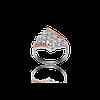 Серебряное кольцо лагуна 925 пробы с накладками золота 375 пробы.Серебряное кольцо с золотой пластиной