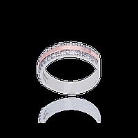 Серебряное кольцо МАРТА 925 пробы с накладками золота 375 пробы.Серебряное кольцо с золотой пластиной