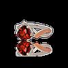 Серебряное кольцо НОНА 925 пробы с накладками золота 375 пробы.Серебряное кольцо с золотой пластиной