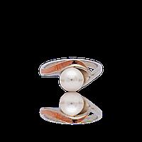 Серебряное кольцо ОЛЬГА 925 пробы с накладками золота 375 пробы.Серебряное кольцо с золотой пластиной