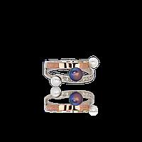 СТИЛЬНОЕ Серебряное кольцо ТИАНА 925 пробы с накладками золота 375 пробы.Серебряное кольцо с золотой пластиной