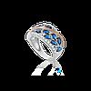 Серебряное кольцо ЭДИТА 925 пробы с накладками золота 375 пробы.Серебряное кольцо с золотой пластиной