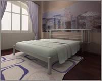Кровать Астра 190(200)х140 цветное исполнение