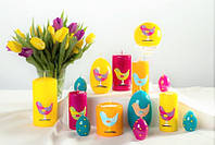 Декоративная свеча RAK - Happy Bird Slupek 60/115 - Цилиндр 60/115мм Малиновый