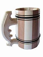 Кружка пивная большая деревянная (Деревянные бокалы)