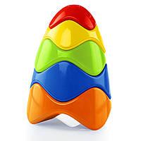 Развивающие и обучающие игрушки «Bright Starts» (81106) Красочная пирамидка Oball