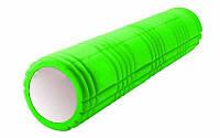 Роллер массажный (Grid Roller) для йоги, пилатеса, фитнеса (d-14,5см, l-61см, салатовый)