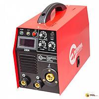INTERTOOL Полуавтомат сварочный инверторного типа комбинированный 7,1 кВт, 30-250 А., проволока 0,6-1,2 мм., электрод 1,6-5,0 мм INTERTOOL DT-4325
