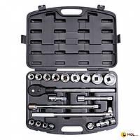INTERTOOL Профессиональный набор инструмента 34 & quot; , 20 ед гол. 19-50 мм пластиковый кейс INTERTOOL ET-6023