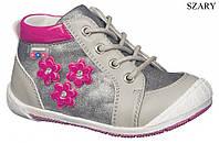 """Демисезонные ботинки для девочки 42/17""""American Club"""" (серый) размеры 22-26"""