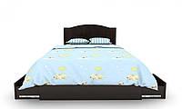 """Детская деревянная кровать """"Мишка 2"""" с ящ. на обе стороны (120х190 см) ТМ Вальтер-С Ваниль/Орех темный KMYY-4.12.1"""