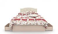 """Детская деревянная кровать """"Мишка 3"""" с ящиком на обе стороны (120x190 см) ТМ Вальтер-С Венге/Ваниль KMYY-1.12.1"""