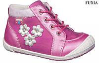 """Демисезонные ботинки для девочки 42/17""""American Club"""" (фуксия) размеры 22-26"""