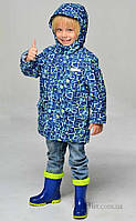 Легкая демисезонная куртка для мальчика Libellule (Baby Line) V134K-17 р.110 синий Геометрия