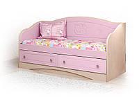 """Детский диван """"Kiddy 3"""" (Размер: 70х140 см) ТМ Вальтер-С Розовый глянец + Венге светлый D-1.07. K8"""