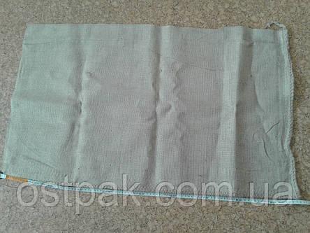 Джутовые мешки, б/у на 50-70 кг с печатью, фото 2