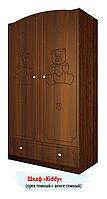 """Удобный шкаф """"Мишка 1"""" (Размер: 107х52х42 см) ТМ Вальтер-С Орех темный HY-4.10M4"""