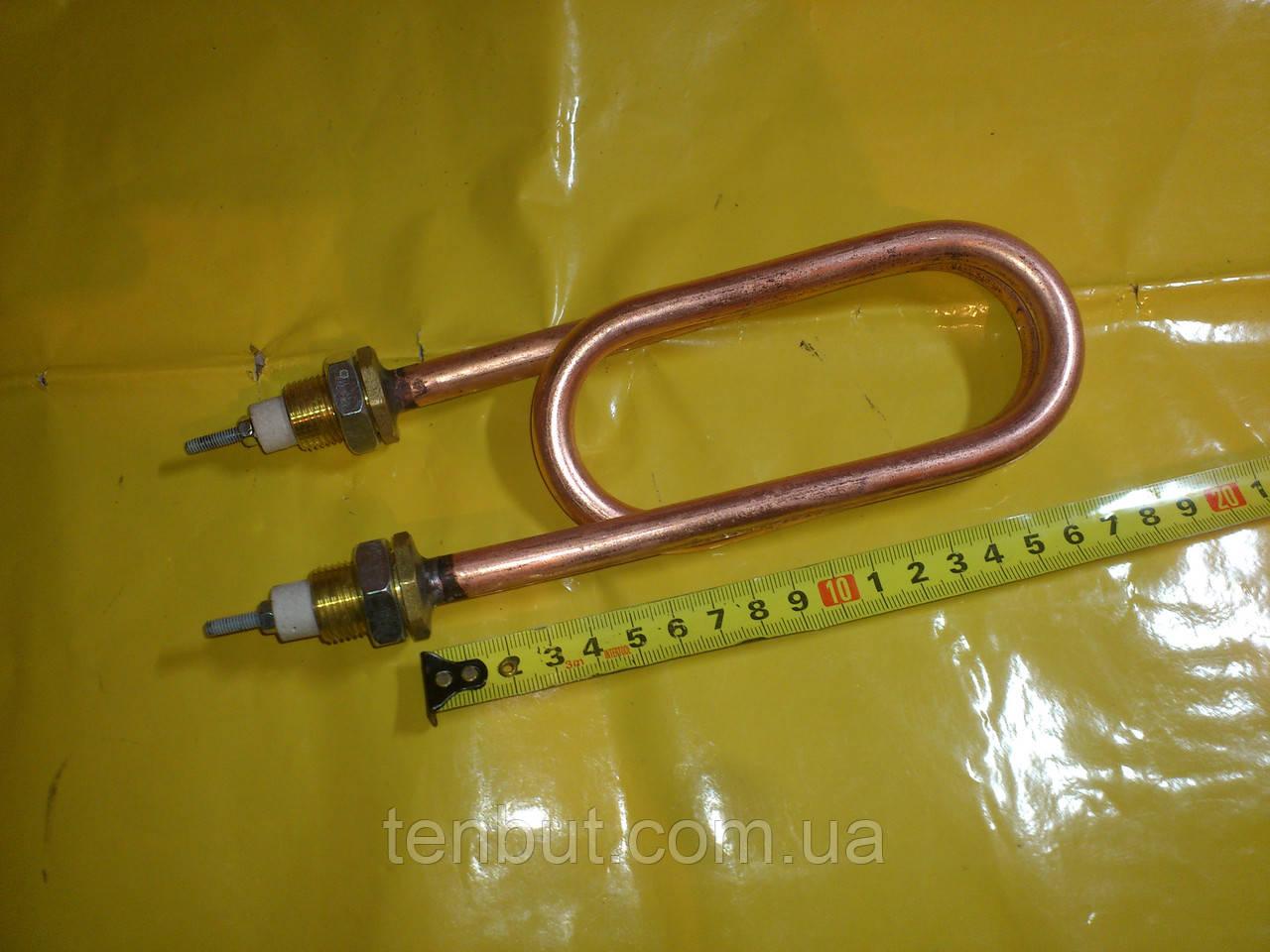 Медный тэн скрепка для дистиллированния воды 2.5 кВт. / 220 В. резьба м-18 мм. Украина .