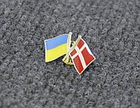 Значок флаг Украины и Дании