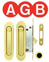Замок для раздвижной двери AGB ВО1905.50.08 WC матовое золото
