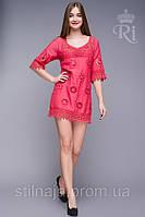 Платье летнее  с кружевом длина по колено, фото 1