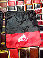 Рюкзак Adidas 114708 для сменной обуви разные цвета с карманом дно расширяется спортивный школьный 35*40*17см