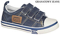 """Подростковые кеды 472/17-1""""American Club""""(синий джинс) размеры 34-39"""