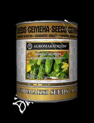 Семена огурца «Корнишон-Закусон F1» инкрустированные, 200 г, фото 2