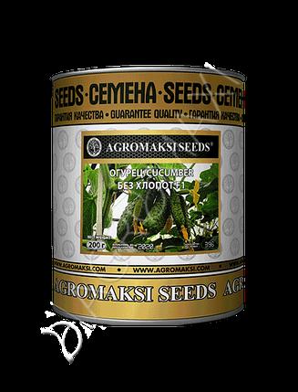 Семена огурца «Без Хлопот F1» инкрустированные, 200 г, фото 2