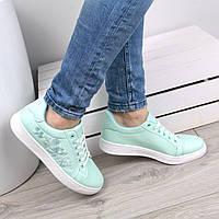 Кроссовки кеды женские Fleur мята, спортивная обувь