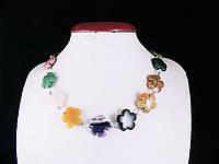 Бусы из самоцветов 48см, цветочек, фото 1