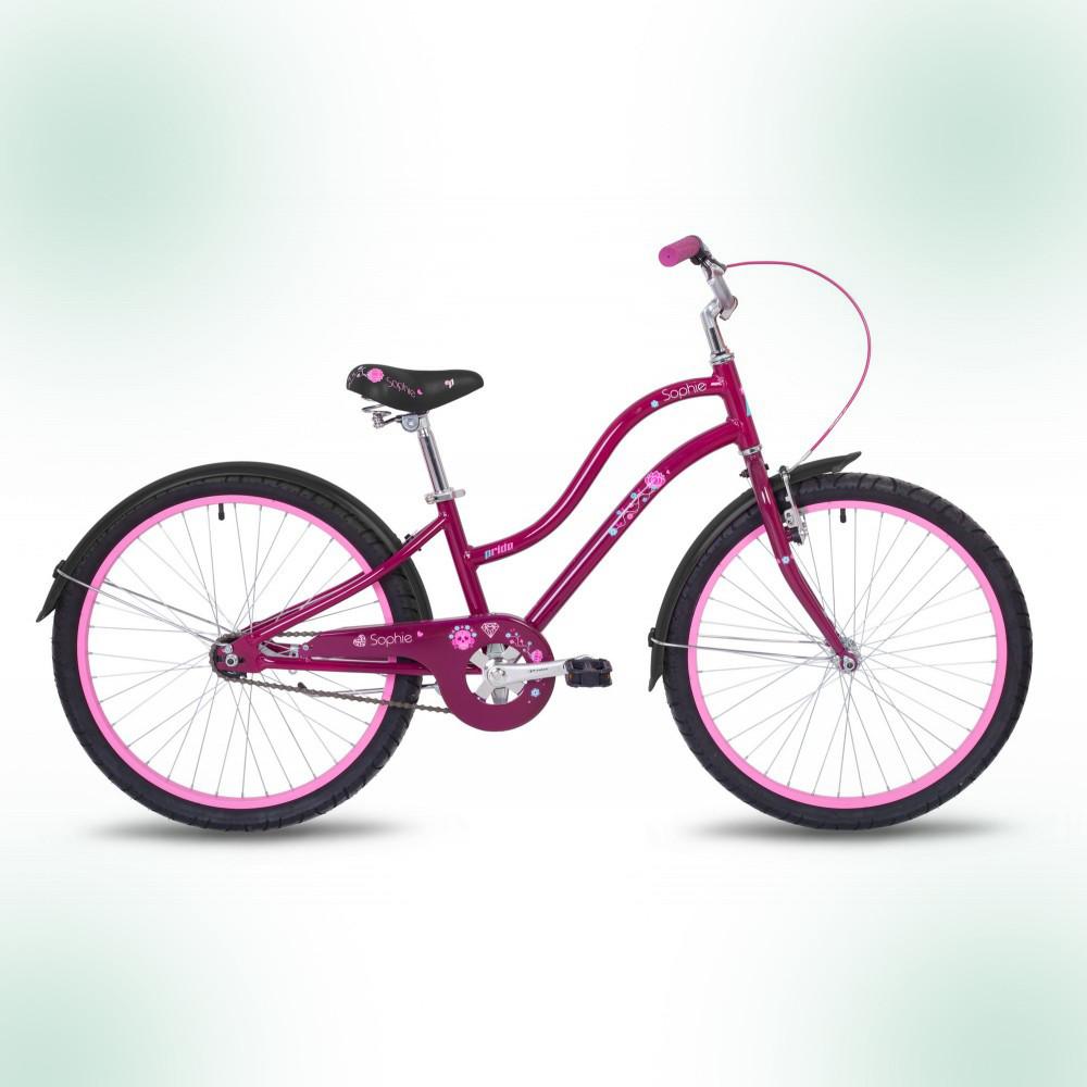 """Велосипед 24"""" Pride Sophie бордовый"""