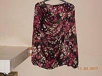 Блуза из шелка с драпировкой