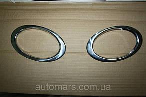 Накладки на противотуманки Nissan Qashqai 2010+ (нерж.)