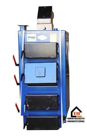 Котел на твердом топливе длительного верхнего горения Idmar GK-1 90 кВт, фото 2